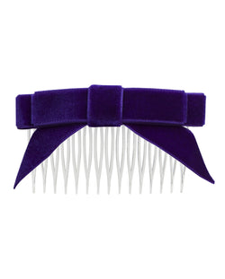 Energetiks Velvet Angled Bow with Comb and Tail, H005VT