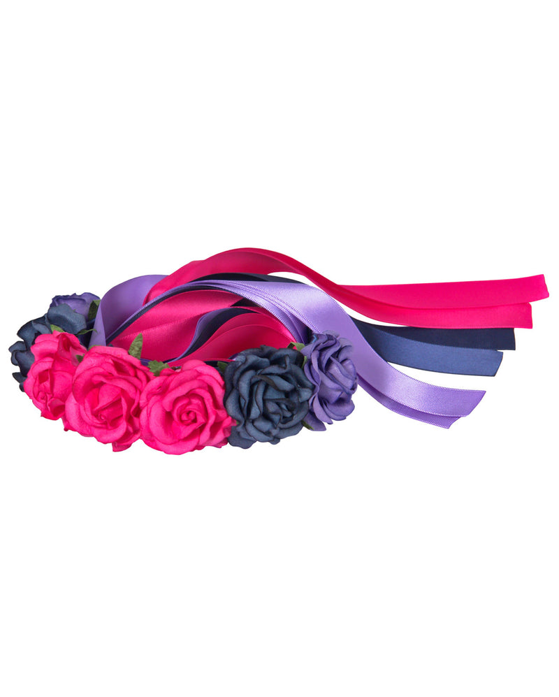 Flower Head Piece, Dark, H023