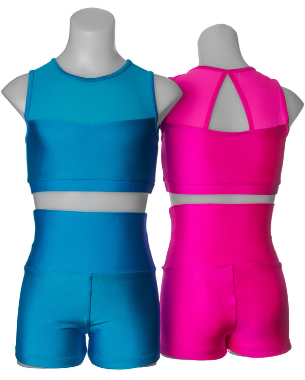 Studio 7, Mesh Crop Top, (6 Colours) Childs, CHCT06