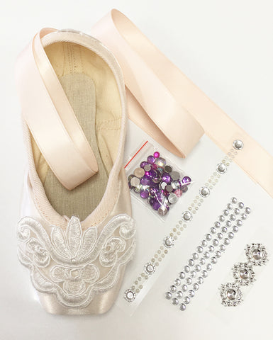 Pointe Shoe Decorating Kit - LACE & PEARLS