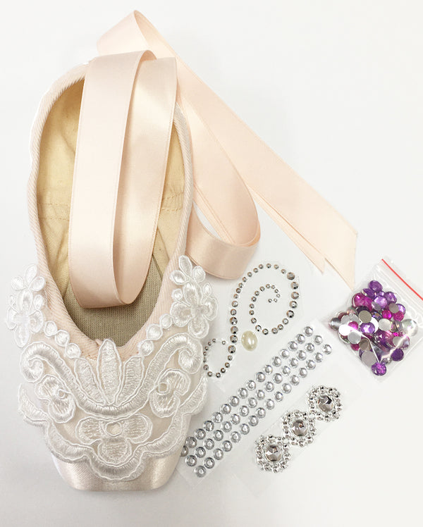 Pointe Shoe Decorating Kit - CLASSIC LACE