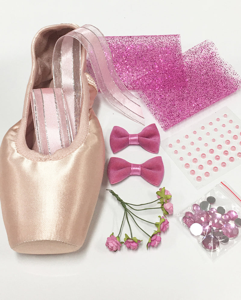 Pointe Shoe Decorating Kit - PRINCESS BOWS