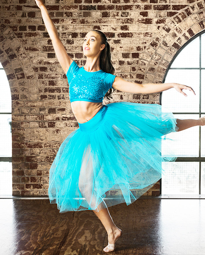 Studio 7, Dream Romantic Tutu Skirt, TURQUOISE, Adults, ADRS01