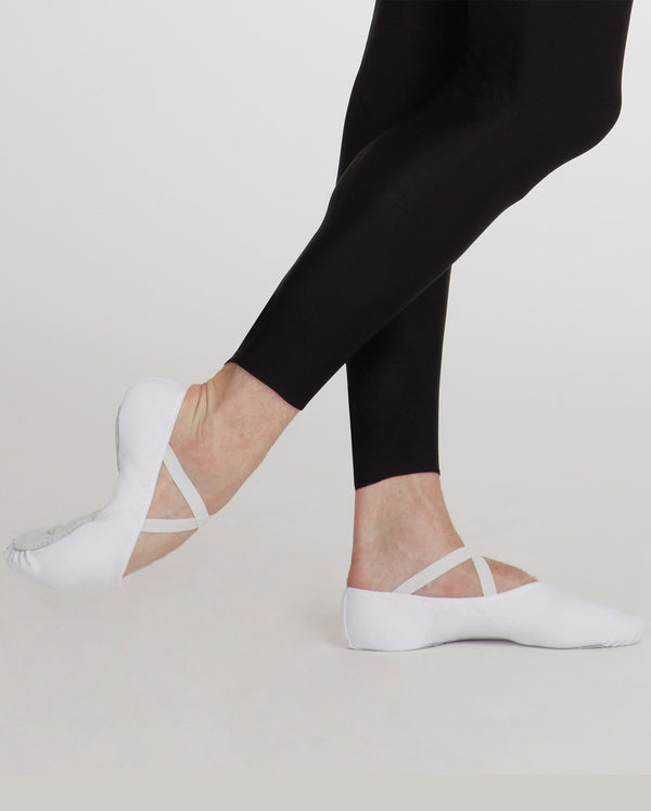 CLEARANCE, Capezio Canvas Romeo Ballet Shoe, WHITE, 2021