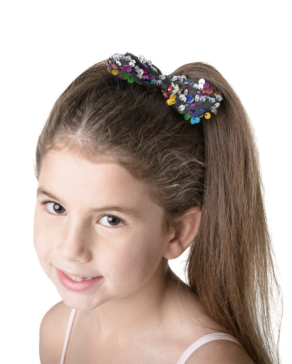 CLEARANCE, Studio 7, Sequin Bow (9 Colours) HB11