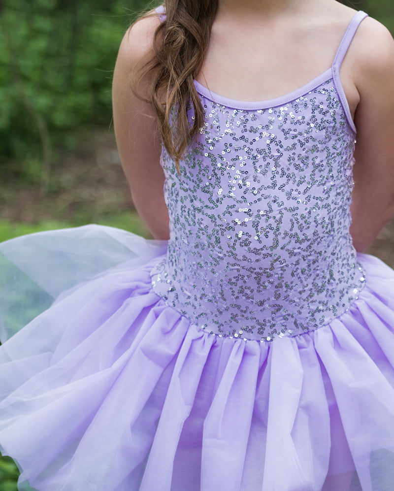 Studio 7, Sequin Tutu Dress, Lilac, Childs, CHTU04
