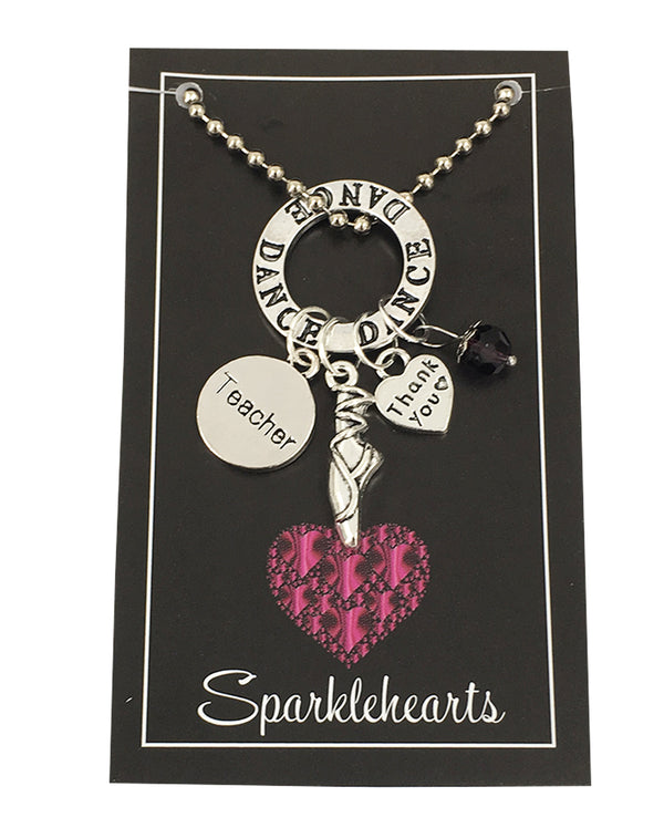 Sparklehearts Keepsake - Dance Teacher (Thank you)