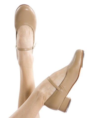 Energetiks Low Heel Tap Shoe, Tan, TSA01