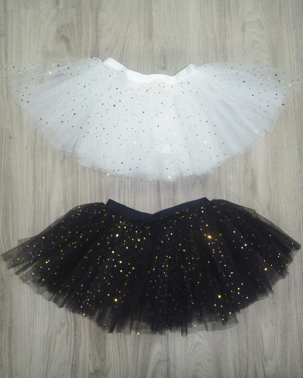 Studio 7 Illusion, Tutu Skirt, Black / Metallic Gold Sparkles, CHTS02