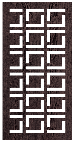 Babylon-B - 600 x 1200 mm - 9 mm Decorative Hardwood Screen - Living Effects