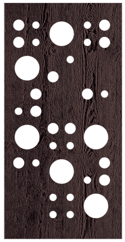 Bubbles - 600 x 1200 mm - 9 mm Decorative Hardwood Screen - Living Effects