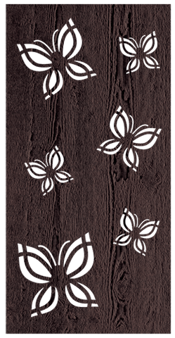 Butterfly - 600 x 1200 mm - 9 mm Decorative Hardwood Screen - Living Effects