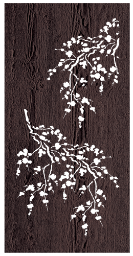 Cherry Blossom - 600 x 1200 mm - 9 mm Decorative Hardwood Screen