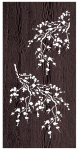 Cherry Blossom - 600 x 1200 mm - 9 mm Decorative Hardwood Screen - Living Effects