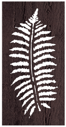 Fern Leaf - 600 x 1200 mm - 9 mm Decorative Hardwood Screen - Living Effects
