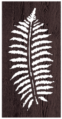 Fern Leaf - 600 x 1200 mm - 9 mm Decorative Hardwood Screen