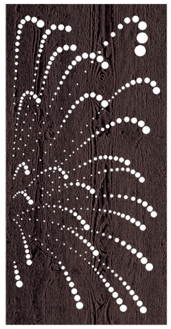 Fireworks - 600 x 1200 mm - 9 mm Decorative Hardwood Screen - Living Effects