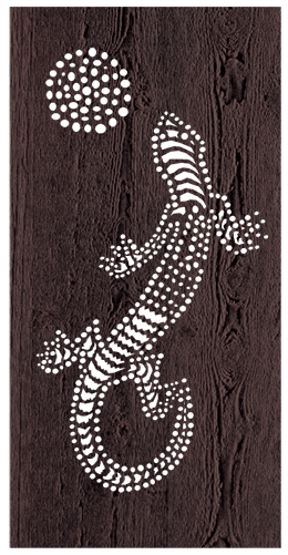 Lizard - 600 x 1200 mm - 9 mm Decorative Hardwood Screen - Living Effects