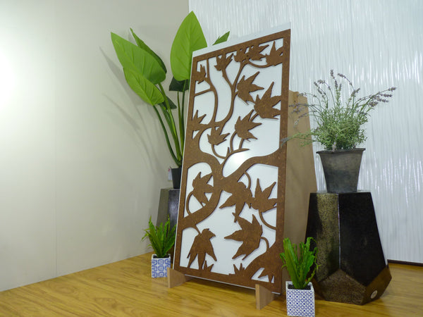 Maple - 600 x 1200 mm - 9 mm Decorative Hardwood Screen - Living Effects