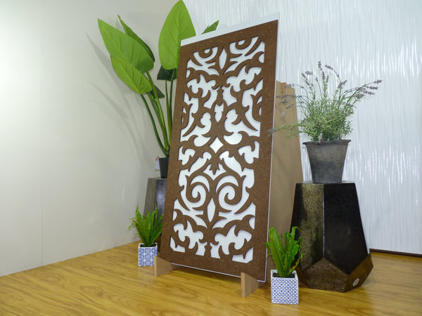 Morocco - 600 x 1200 mm - 9 mm Decorative Hardwood Screen - Living Effects