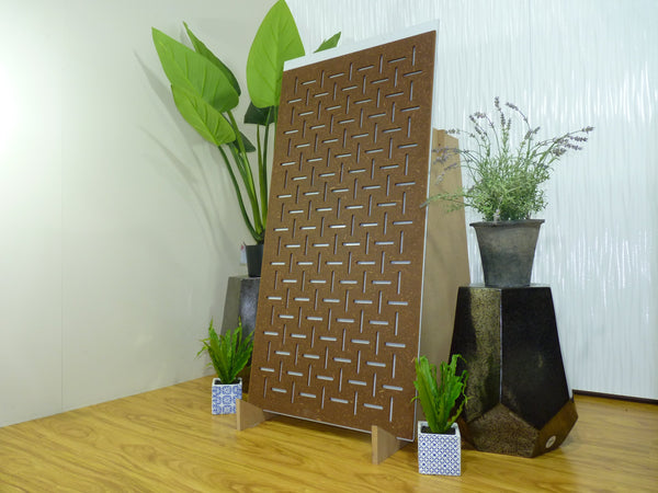 Portsea - 600 x 1200 mm - 9 mm Decorative Hardwood Screen - Living Effects