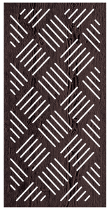 Rye - 600 x 1200 mm - 9 mm Decorative Hardwood Screen - Living Effects