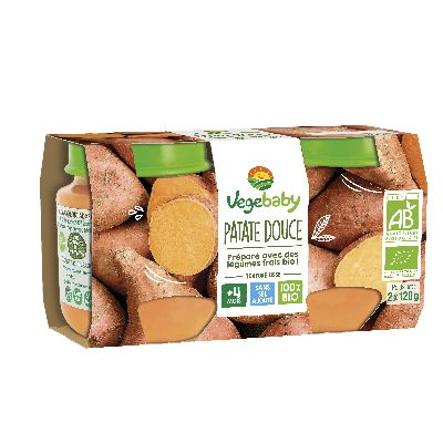 Vegebaby Pot Patate Douce 2X120G