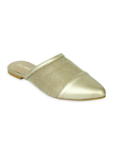 Women Fancy Banto Sandals LLS-084 - Golden