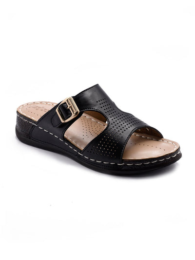 Black Women Chappal LLS-095