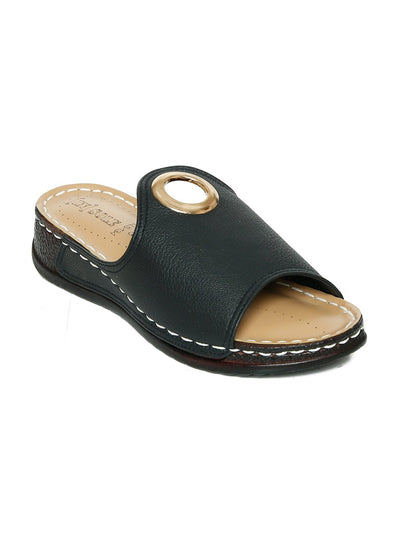 Women Slippers LLS-134 Black