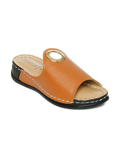 Women Slippers LLS-134 Mustard