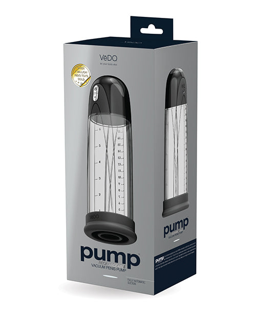 Vedo Pump Rechargeable Vacuum Penis Pump - Just Black