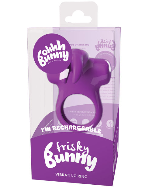 Frisky Bunny Vibrating Ring - Purple