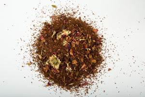 A pile of the Calm & Carry On loose-leaf tea.
