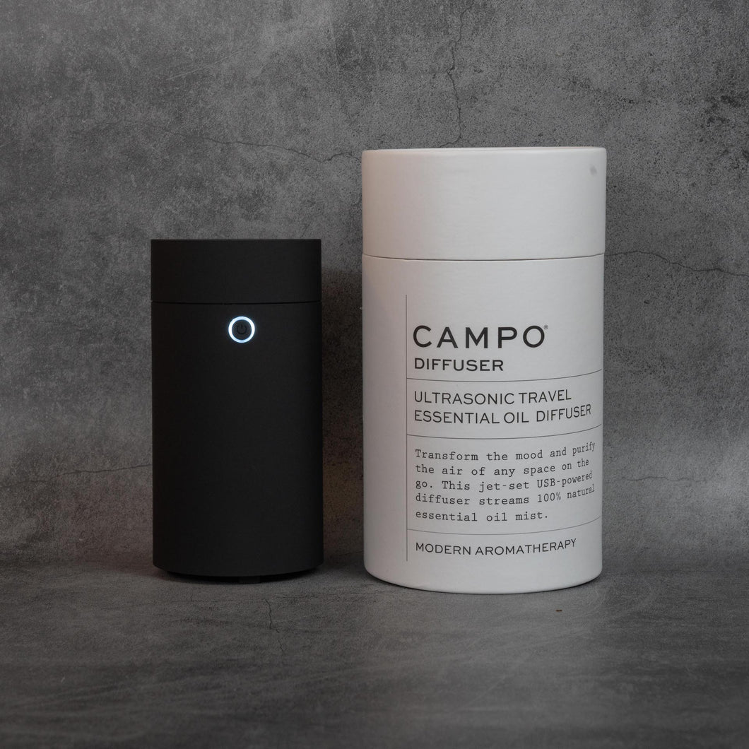 CAMPO Travel Ultrasonic Essential Oil Diffuser - MATTE BLACK
