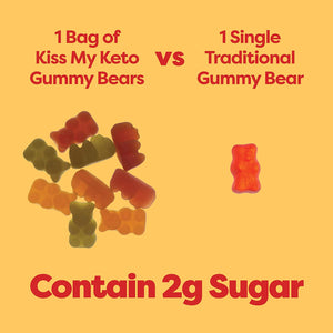 KissMyKeto Keto Gummies - 生酮熊仔糖Gummy Bear (22.5g)