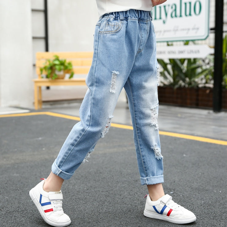 Loose Ripped Denim Jeans