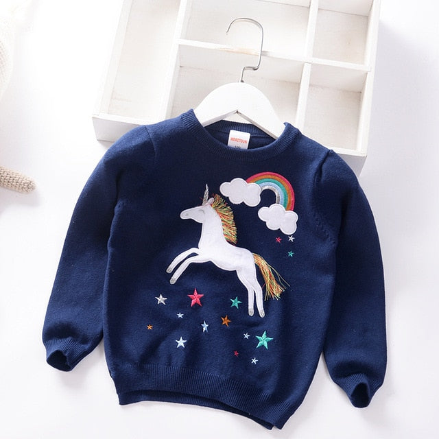 Soft Cartoon Sequin Jumper