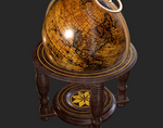 Old Antique Standing Globe