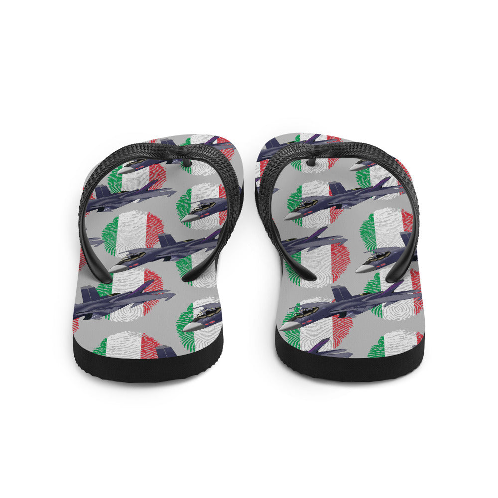 Italy - Cool Air Force Aircraft Flip Flops