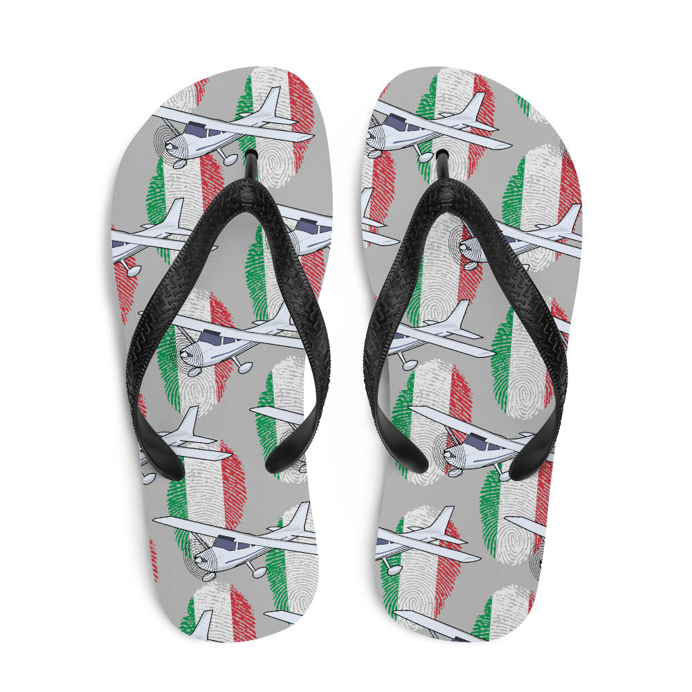 Italy - Cool Single Engine Aircraft Flip Flops