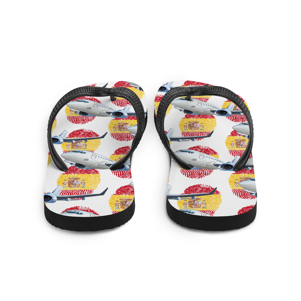 Spain - Cool Commercial Aircraft Flip Flops