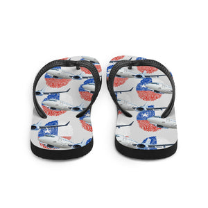 Chile - Cool Commercial Aircraft Flip Flops