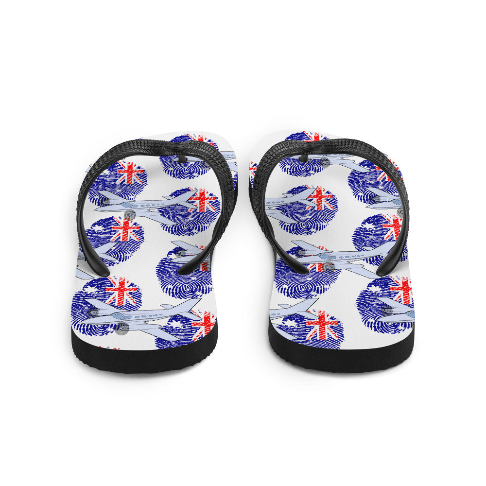 Australia - Cool Twin Engine Aircraft Flip Flops