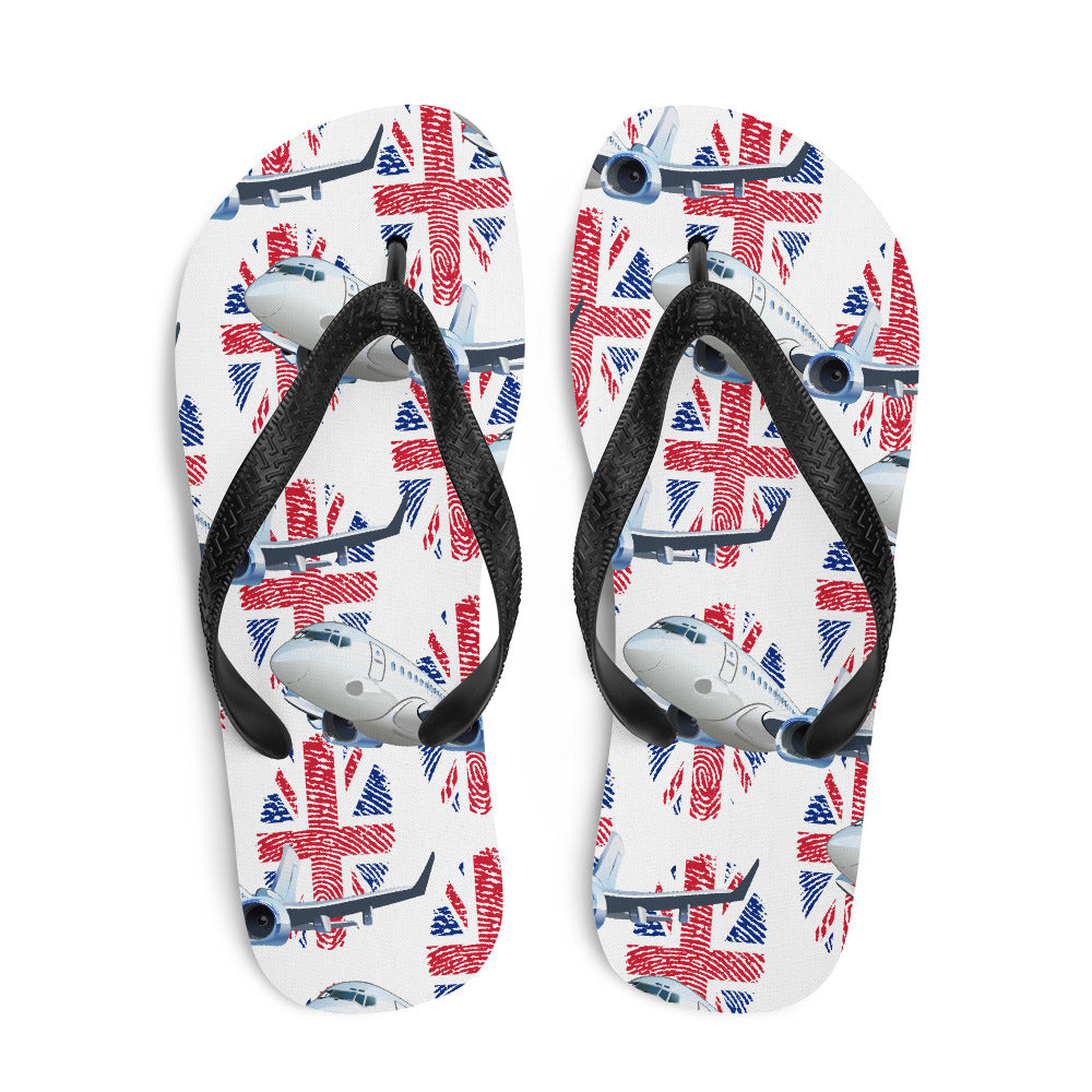 United Kingdom - Cool Commercial Aircraft Flip Flops