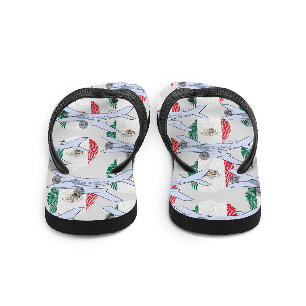 Mexico - Cool Twin Engine Aircraft Flip Flops