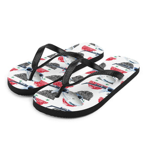 Syria - Cool Commercial Aircraft Flip Flops