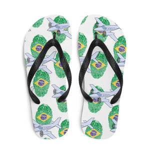 Brazil - Cool Twin Engine Aircraft Flip Flops