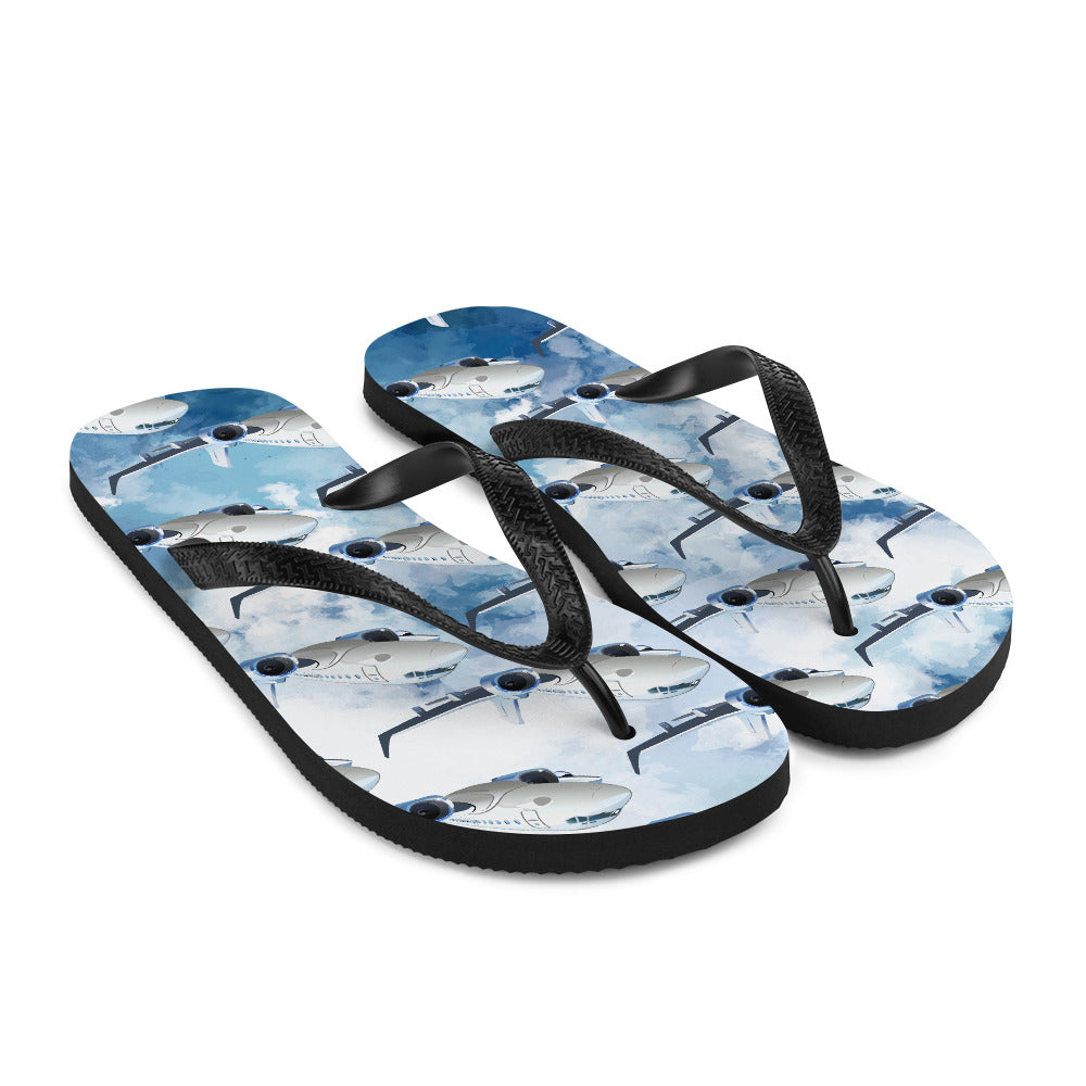 Cool Commercial Aircraft Flip-Flops