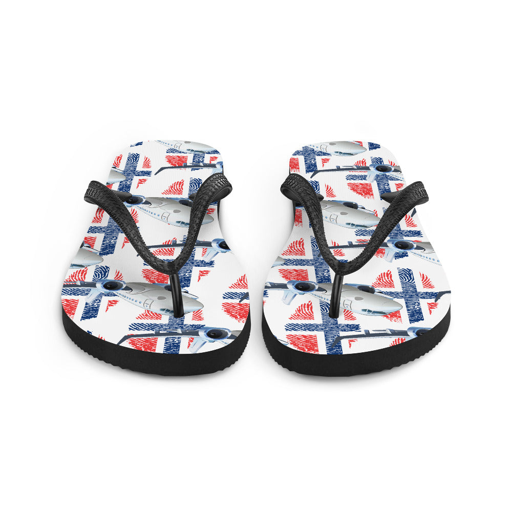 Norway - Cool Commercial Aircraft Flip Flops